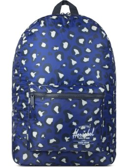 Herschel Supply Co. Blue Oversized Leopard Packable Daypack Picture
