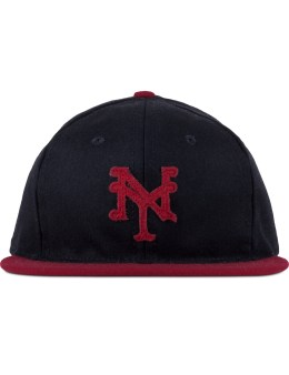Ebbets Field Flannels Black/Red New York Cubans 1947 Fitted Baseball Cap Picture