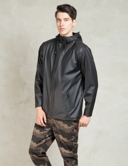 RAINS Black Breaker Jacket Picture