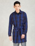 N.Hoolywood Blue Check Shirt Coat Picture