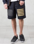 Palm Angels Glitter Flag Shorts Picutre