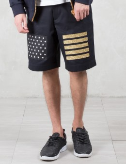 Palm Angels Glitter Flag Shorts Picture