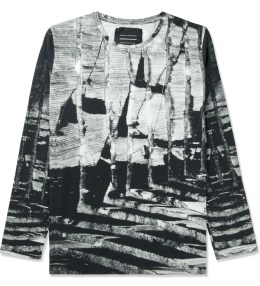 Tourne de Transmission White/Black Shatter Long T-Shirt Picture