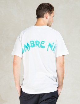 Hombre Nino White S/S Backprint Print T-Shirt  Picture