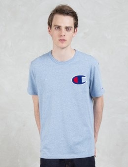 Champion Reverse Weave Melange Applique Logo S/S T-shirt Picture
