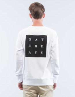 SATURDAYS NYC Bowery Saturdays Grid Sweatshirt Picture