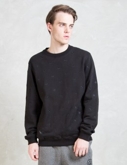 10.DEEP Black Skydome Crewneck Sweater Picture
