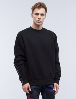 MOSTLY HEARD RARELY SEEN Contrast Splice Crewneck Sweatshirt Picture