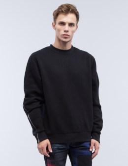 MOSTLY HEARD RARELY SEEN Contrast Splice Crewneck Sweatshirt Picture