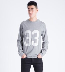 Wood Wood Light Grey Melange Gerrit L/S T-Shirt Picture