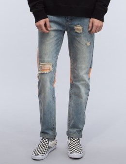 C2H4 Los Angeles Triangle Patchwork Jeans Picture