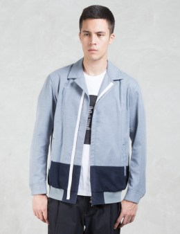 VALLIS BY FACTOTUM Two Tone Zip Front Shirt Bomber Jacket Picture