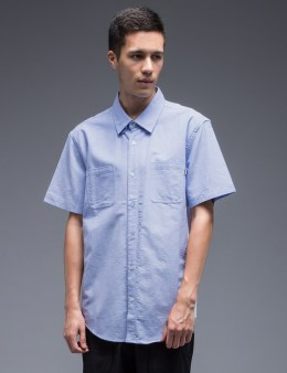 UNDEFEATED Mesh Contrast Button Up Shirt Picture