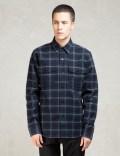 Denham Navy Brushed Flannel Uniform Shirt Picutre