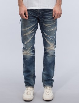Denim by Vanquish & Fragment Five Years Wash Regular Straight Denim Jeans Picture
