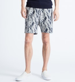 Soulland White/Navy Schredder Shorts Picture
