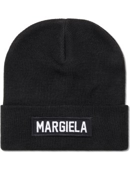 LES (ART)ISTS Black Margiela Patch Beanie Picture
