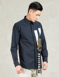 Matthew Miller Navy Shirt With Ma1 Applique Picture