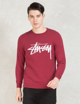 Stussy Red Stock Emb. Sweater Picture
