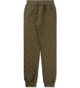10.DEEP Olive Drab X-box Qulited Sweatpants Picture
