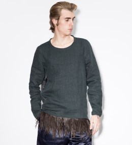 Paul Smith Navy Linen Smock With Leather Fringe Picture