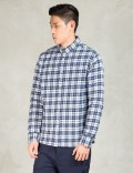 PENFIELD Navy Kemsey Brushed Plaid Long Sleeve Shirt Picture