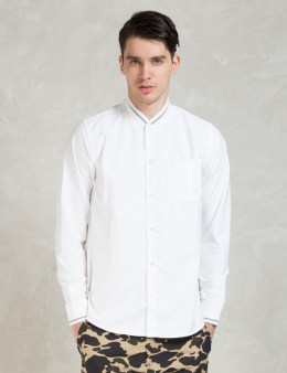 Carhartt WORK IN PROGRESS White Pitcher Oxford L/S Shirt Picture