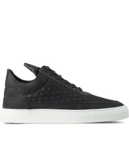 Filling Pieces Tash Mesh Black Low Top Sneakers Picture