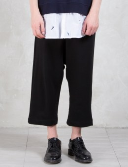 Munsoo Kwon Fish Hook Wide Sweatpants Picture