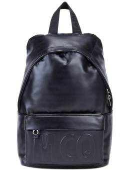 McQ Alexander McQueen Emboss McQ Logo Leather Classic Backpack Picture