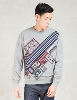 CARVEN Grey Broderie Crewneck Sweatshirt Picture