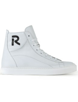 Raf Simons Sneakers With Contrast R Logo Picture