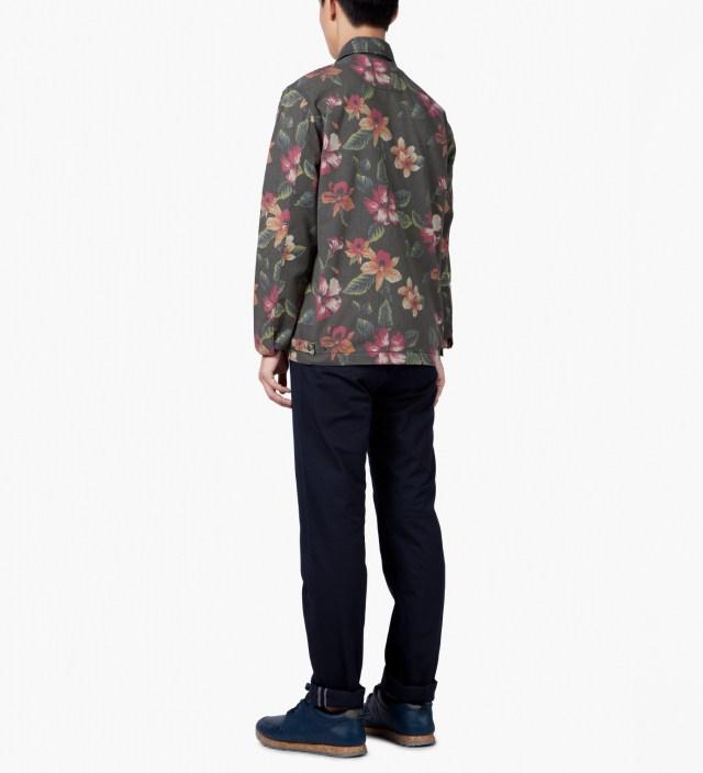 Stussy Black Vintage Flower Coach Jacket