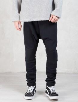 MAGIC STICK Black Classic Drop Clotch Sweatpants Picture