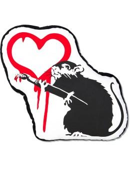 "Medicom Toy Sync.-Brandalism ""Love Rat"" Plush Cushion Picture"