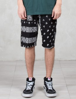 HUF Black Bandana Patchwork Shorts Picture