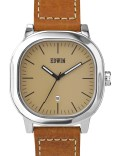 EDWIN Watch Cream Dial With Brown Leather Band Anderson Picture