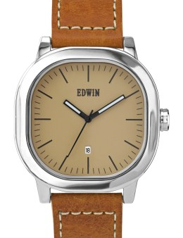 EDWIN Watch Cream Dail With Brown Leather Band Anderson Picture