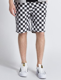 FUCT SSDD White/Black Checker Flag Shorts Picture