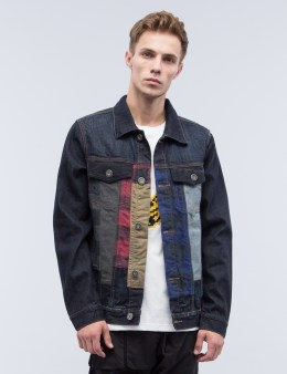 MOSTLY HEARD RARELY SEEN Patchwork Denim Jacket Picture