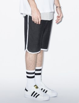 Raised by Wolves Dark Herringbone Jersey/White Piping Herringbone Sweatshorts Picture