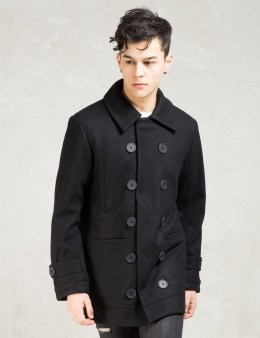 Black Scale Black Carter Peacoat Picture