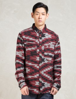 10.DEEP Red L/S Spirit Buttondown Shirt Picture