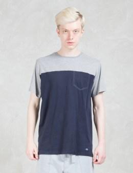 Bleu De Paname Bicolor Pocket T-Shirt Picture