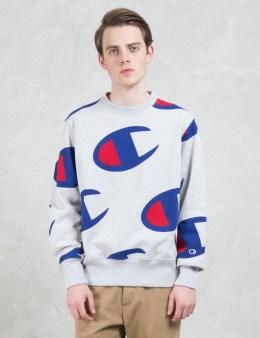 Champion Reverse Weave Overall Logo Sweatshirt Picture