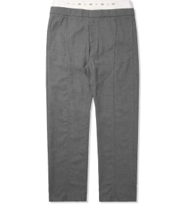 Opening Ceremony Ash Grey Neils Suiting Double Waistband Pants Picture
