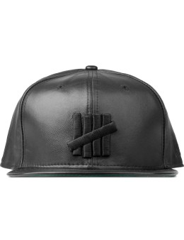 UNDEFEATED 5 Strike Leather New Era Cap Picture
