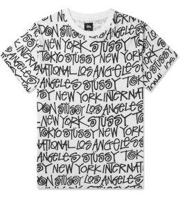 Stussy White Cities T-Shirt Picture