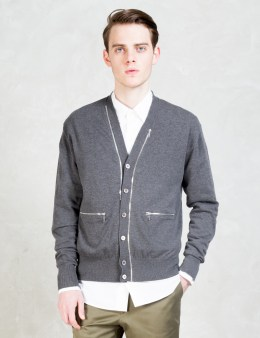 soe V Neck Zip Cardigan Picture