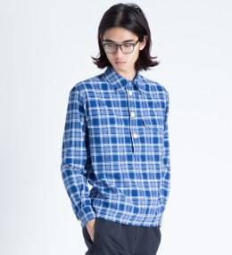 Head Porter Plus Blue Check Pullover Shirt Picture